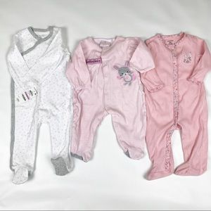 Lot of cotton footed pjs